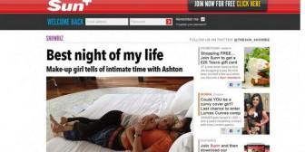 Sale a la luz escandalosa foto Ashton Kutcher y su amante en la cama