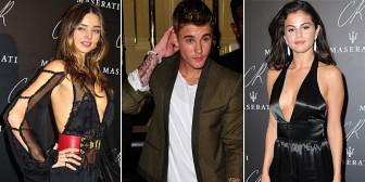 """Miranda Kerr y Selena: el incómodo """"triángulo"""" parisino de Justin Bieber"""