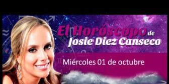 Josie Diez Canseco: Horóscopo del miércoles 1 de octubre