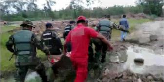 Concluye penoso rescate de los 8 jóvenes ahogados en un río de Chapare