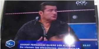 Johnny Fernández quiere volver a ser alcalde de Santa Cruz