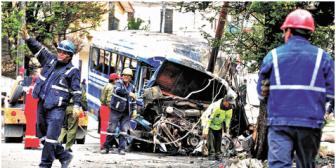 Muere una las de las víctimas del accidente que provocó el micro con garrafas de GLP