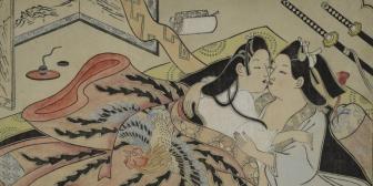 Ilustraciones eróticas sin tabúes del Japón de las geishas