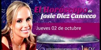 Josie Diez Canseco: Horóscopo del jueves 2 de octubre
