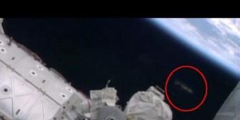 NASA: Avistan un supuesto OVNI en una caminata espacial