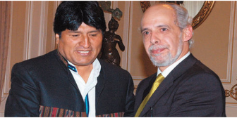 Surge roce entre presidentes del Estado y la Federación Boliviana de Fútbol