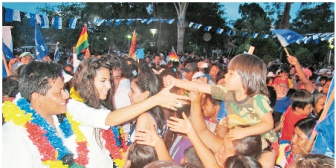 Beni: ex miss Bolivia y un militar, precandidatos del MAS