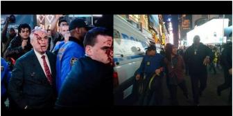 30.000 dólares de fianza para boliviano que pintó al jefe policial de N. York