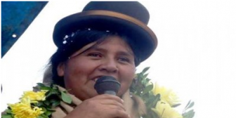 """La """"bartolina"""" Felipa Huanca es candidata a Gobernadora de La Paz por el MAS"""