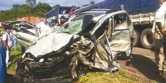 Un muerto y heridos en accidente cerca de Villa Montes