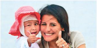 Rosalía cumple seis años de edad y recuperó 100% del cuero cabelludo