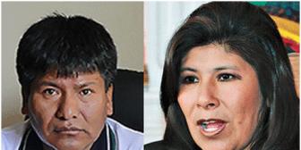 Viceministro Víctor Hugo Vásquez y alcaldesa Rossío Pimentel son elegidos como candidatos del MAS en Oruro