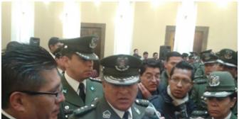 Presidente posesiona a Luis Cerruto como nuevo Comandante de la Policía Boliviana