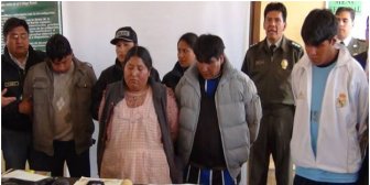 """Presentan a los """"mejores"""" falsificadores de billetes de Bolivia"""
