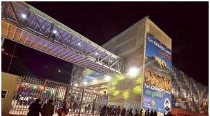 Suspenden fiestas por temblor en estructura del megacampo ferial Chuquiago