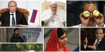 El Papa, Putin y Malala entre los personajes que dieron la vuelta al mundo con sus noticias