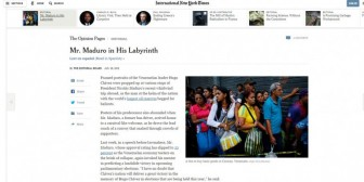 """Maduro en su laberinto"", el duro editorial del New York Times"