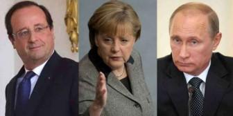 Putin, Merkel y Hollande pidieron al grupo de Minsk centrarse en alto el fuego