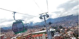 Presentan dos querellas penales contra 'inadaptados' que dañaron el teleférico de La Paz