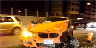 Ministro niega supuesto accidente de su hijo al volante de un lujoso BMW