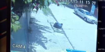 Santa Cruz: Cámaras captan el robo de una camioneta