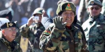 La militarización del Estado Plurinacional