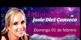 Horóscopo de Josie Diez Canseco del domingo 01 de febrero