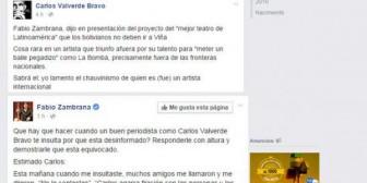 Valverde y Zambrana en polémica por el festival