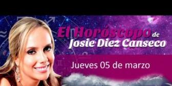 Josie Diez Canseco: Horóscopo del jueves 5 de marzo