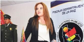 Destituyen a Patricia Santos del cargo de Fiscal de Distrito de La Paz