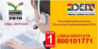 Habilitan línea gratuita para consultar si fue elegido jurado electoral