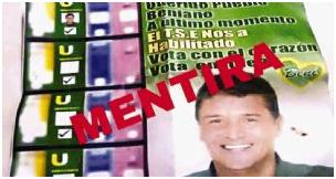 En Beni no cesa ataque a opositores y aparecen afiches engañosos para pedir el voto por Ernesto Suárez que está inhabilitado