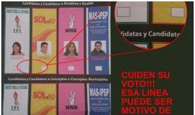 Revilla denuncia que al menos 100 boletas tienen marcas en un recinto de La Paz