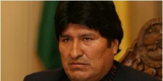 Tras una jornada negativa para el MAS, el Presidente Evo Morales prefirió no declarar