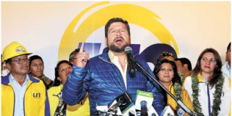 Doria Medina anuncia una nueva etapa política en Bolivia