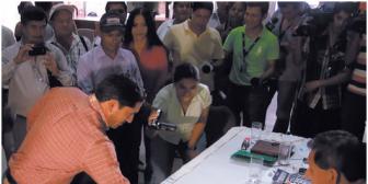 Inédito sorteo: Definen con dados curul de un concejal en Cabezas