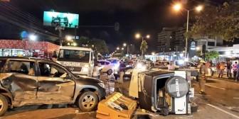 Grave accidente en la avenida Banzer y Los Cusis