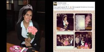 La sorpresiva despedida de soltera para Claudia Lampe
