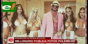 Millonario publica fotos polémicas que denigran a la mujer