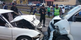 Dos heridos en accidente tránsito