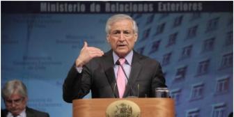 """Canciller de Chile califica la demanda marítima boliviana de """"muy osada"""""""