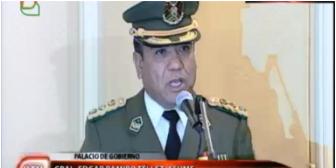 Por caso Belaúnde también cae jefe policial; Edgar Tellez es el nuevo comandante de la Policía Boliviana