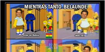 Postean en cuentas bolivianas memes sobre la desaparición de Belaúnde
