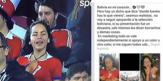 Mayté Flores explica por qué usó la polera de la selección chilena