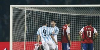 La FOTO que resume la paliza argentina a Paraguay