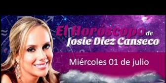 Josie Diez Canseco: Horóscopo del miércoles 1 de julio