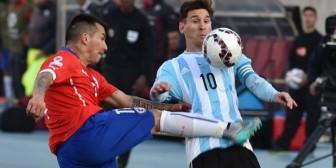 La patada Medel a Messi que solo fue tarjeta amarilla