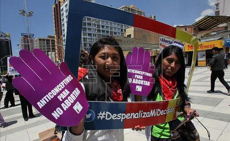 Jóvenes activistas en La Paz