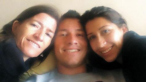Cabrera junto a sus familiares.