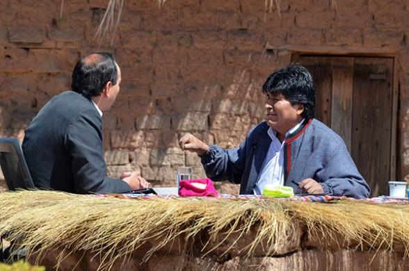 El presidente Evo Morales en entrevista desde Orinoca. -   Abi Agencia